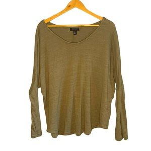 Green Knit Sweater/Blouse